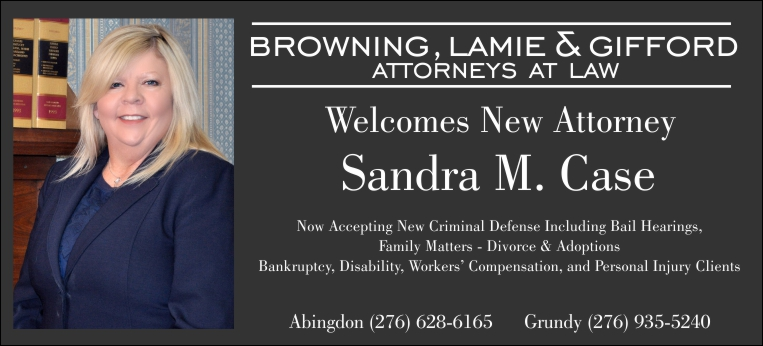 Browning, Lamie & Gifford, P.C. welcomes their newest attorney, Sandra Case.